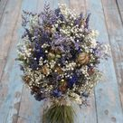 Provence Babys Breath Dried Flower Wedding Bouquets