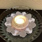 Floating tealight holder/ Christmas party favors/ Christmas decor/ Frozen party decor/ winter wedding decor/ Elsa themed party decor