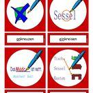 Flashcards Verben In der Schule 3 mittel