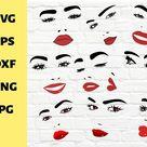 30 Bundle Files for Cricut, Face and lips designs (1141166) | SVGs | Design Bundles