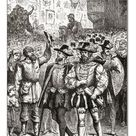 30cm Photo. The procession of the petitioning nobles, from Ward