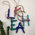 Mini Initial Twig Ornament Nature Inspired Decor Alphabet   Etsy