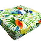 Tropical Cushions Covers Bird Caribbean, Outdoor deep seat, Patio throw pillows replacement life palm leaf sofa wicker garden pad decorative