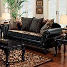 Bloomsbury Market Ossipee Sofa black/Brown 37.0 x 88.0 x 35.0 in | Wayfair Canada