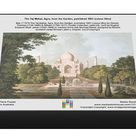 The Taj Mahal, Agra, from the Garden, published 1801 (colour litho). 1000 Piece Puzzle. BAL177079 The Taj Mahal, Agra, from the Garden, published 180.