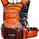 Mubasel Gear Insulated Hydration Backpack Pack with 2L BPA Free Bladder - for Running, Hiking, Cycling, Camping - Orange