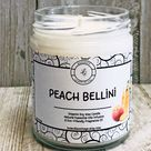 Peach Bellini Natural  Soy Wax Candle- Fun Candles- Spring & Summer Candles- Vegan- Gifts Ideas- Tropical- Scented Candles-
