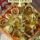 Potato and Zucchini Roses Gratin