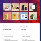 Personal Portfolio & Resume WordPress Theme
