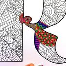 Letter D Zentangle - Inspired by the font