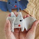 Crochet amigurumi mini bat pattern pdf in English  amigurumi   Etsy