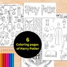 Harry potter Printableeducational games Colouring Page   Etsy