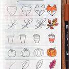 Best Bullet Journal Doodle Ideas For Halloween & Fall 2021 - Crazy Laura
