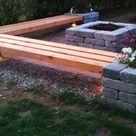 50 coole Garten Ideen für Gartenbank selber bauen