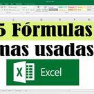 5 fórmulas en Excel más utilizadas y indispensables para tu trabajo