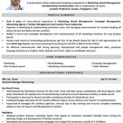 Marketing Manager CV Format – Marketing Manager Resume Sample and Template
