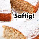 Einfacher veganer Kuchen   Nusskuchen ohne Ei   Schnell vegan backen   Veganer Nuss Kuchen