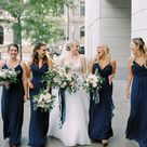 Midnight Blue and Organic Flowers for a Timeless Ohio Wedding