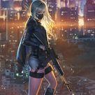 samsung Hintergrundbild Sniper Mädchen, Stadtbild, Anime Mädchen, Kunst, 720x1280 Wallpaper  ...