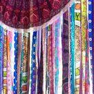 Gypsy Curtains Boho Curtain Hippie Room-Dorm Decor Glamping Sequin Mandala Tapestry Rag Garland Backdrop Festival Tent Vanlife