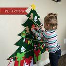 Felt Christmas Tree DIGITAL PATTERN  No Sew DIY Printable Pdf   Etsy