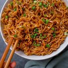 Easy Saucy Ramen Noodles (Vegan Recipe)