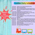 DAYCARE DAILY SCHEDULES/Childcare Center Printable   Etsy