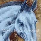 Horse portrait in interior