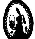 Template Tuesday - Easter Bunny Silhouette