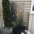Metal Privacy Screen Decorative Panel Outdoor Garden Fence Art   Etsy