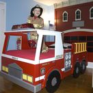 Fire Truck Twin or Crib Size Bed Woodworking Plan