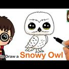 How to Draw Snowy Owl Hedwig   Harry Potter