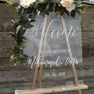 Acrylic Wedding Welcome Sign, Acrylic Welcome Sign, Welcome To The Wedding Of Sign, Clear Wedding, Modern Wedding Sign