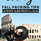 What should you pack for a Fall trip to Italy?