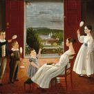 Ambrose Andrews, 1835 - The Children of Nathan Starr - fine art print - Canvas print / 120x90cm - 47x35