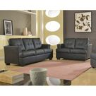 Beverly Fine Furniture Cecilia Living Room Set Black 36.0 x 81.0 x 35.0 in, Faux Leather   Wayfair Canada