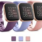 Amazon.com: Pack 3 Soft Silicone Bands for Fitbit Versa 2 / Fitbit Versa/Fitbit Versa Lite Classic Adjustable Sport Bands for Women Men Small Large(Without Tracker) (Small, Black+Blue+Grey) : Electronics