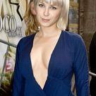 Victoria Koblenko Hot Dutch Actress in Blue Dress