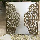 Glitter Paper Gold Laser Cut Wedding Invitations Cards,birhtday Invitation Cards,Personalized Greeting Cards,Laser Cut invitaiton Cards,Laser Cut Invite Cards,50pcs