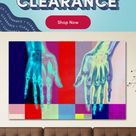 Wrought Studio™ 'X-Ray Vizion' Graphic Art Print on Canvas, Canvas & Fabric in Red/Brown/Blue, Size 16