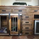 Rustic Dog Crate  Plywood Version  Sliding Barn Doors / | Etsy