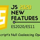 JavaScript Features in ES2020 - JavaScript's Null Coalescing Operator