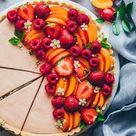 Summer Fruit Cream Tart - easy, no-bake