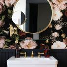 Dark blossom wallpaper, Large floral print, Vintage floral wallpapers, Big flowers wall mural #89