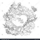 Стоковая векторная графика «Rose Flower Background Space Text Outline» (без лицензионных платежей), 519540853