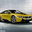 BMW i8 Protonic Frozen Yellow 2018 Poster. ID1302402