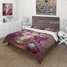 Designart 'Bouquet Of Lilacs Still Life' Traditional Duvet Cover Comforter Set