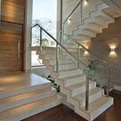 40 Treppengeländer Glas - Luftiges Gefühl im Innendesign einsetzen