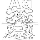 A for alligator coloring page with handwriting practice | Download Free A for alligator coloring page with handwriting practice for kids