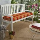 Northville Indoor/Outdoor Sunbrella Bench Cushion Fabric: Red Stripe